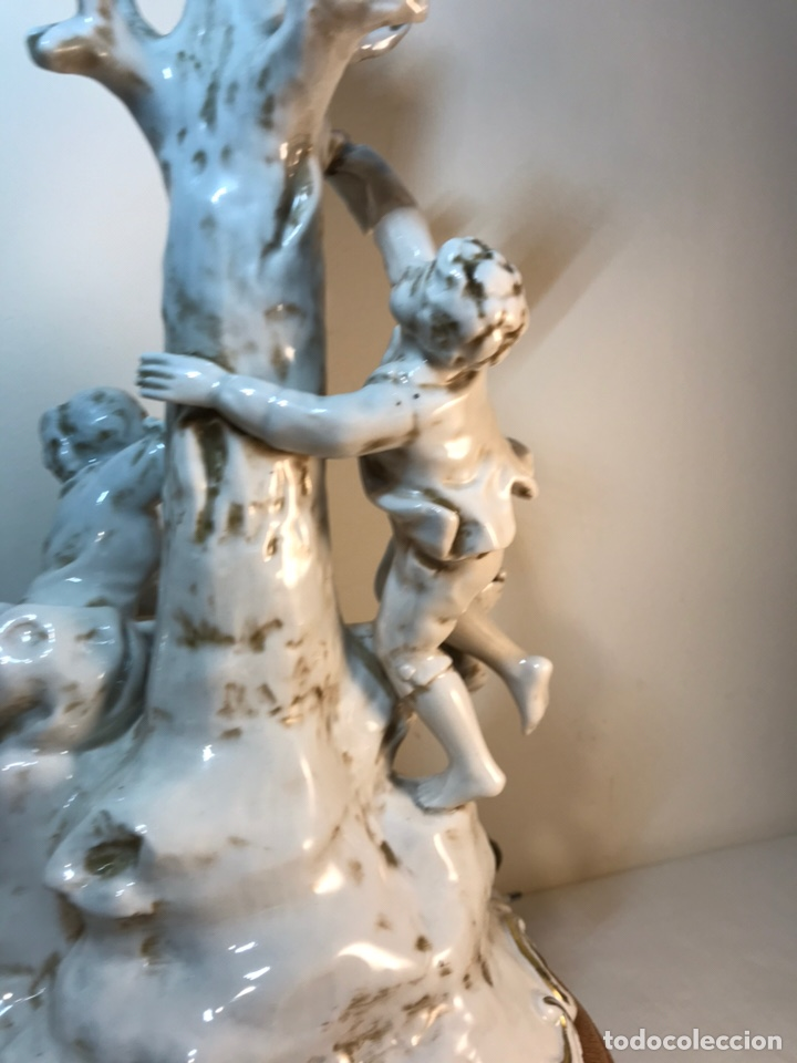 Antigüedades: Lámpara Porcelana- S. Mallol- Figura Árbol- 50 cm - Foto 25 - 167800249