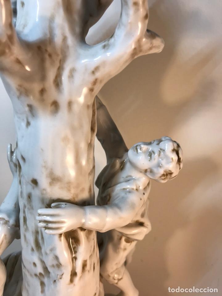 Antigüedades: Lámpara Porcelana- S. Mallol- Figura Árbol- 50 cm - Foto 32 - 167800249