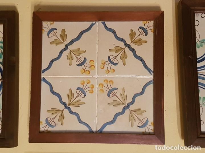 CUADRO AZULEJOS CATALANES SIGLO XVIII (Antigüedades - Porcelanas y Cerámicas - Azulejos)