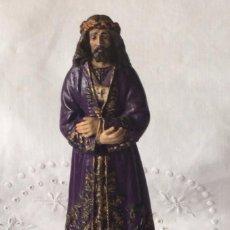 Antigüedades: JESÚS MEDINACELI O NAZARENO DE ESTUCO POLICROMADO. OLOT GERONA. TALLERES ORNATO . Lote 112899047