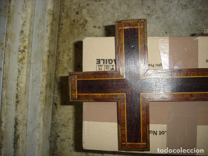Antigüedades: bonito crucifijo cristo en bronce buena fineza ver fotos - Foto 6 - 167809745
