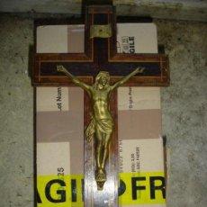 Antigüedades: BONITO CRUCIFIJO CRISTO EN BRONCE BUENA FINEZA VER FOTOS. Lote 167809745
