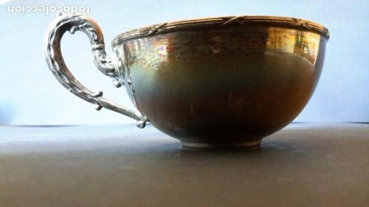 Antigüedades: Excepcional juego de tazas de café - Foto 4 - 167810956