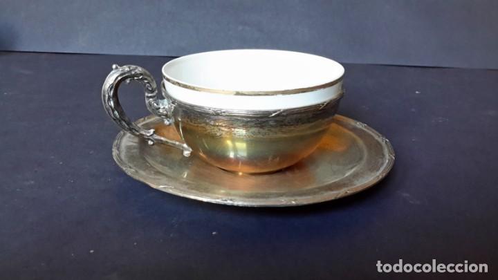 EXCEPCIONAL JUEGO DE TAZAS DE CAFÉ (Antigüedades - Porcelanas y Cerámicas - Otras)