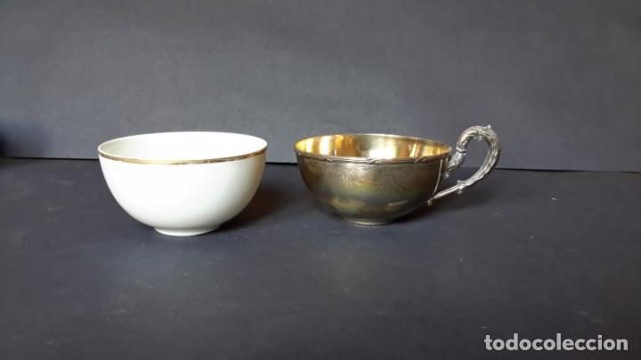Antigüedades: Excepcional juego de tazas de café - Foto 7 - 167810956