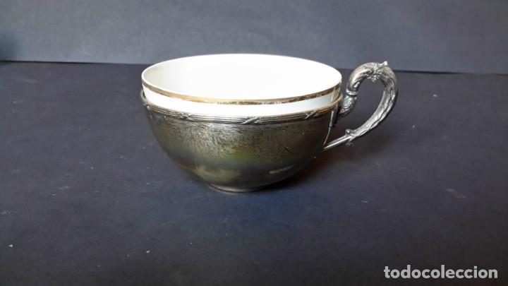 Antigüedades: Excepcional juego de tazas de café - Foto 8 - 167810956