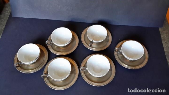 Antigüedades: Excepcional juego de tazas de café - Foto 9 - 167810956