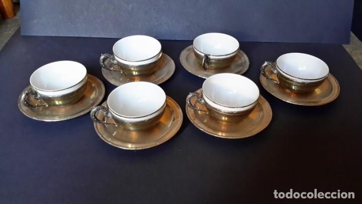 Antigüedades: Excepcional juego de tazas de café - Foto 10 - 167810956
