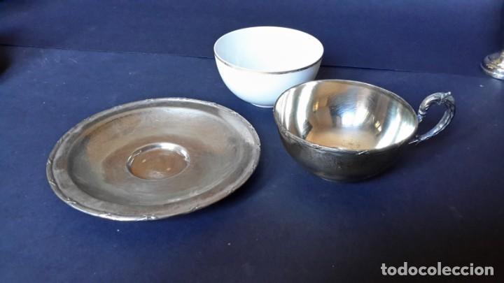Antigüedades: Excepcional juego de tazas de café - Foto 12 - 167810956