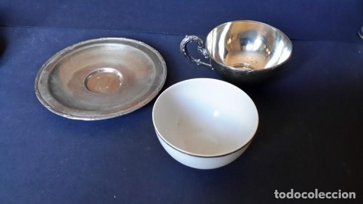 Antigüedades: Excepcional juego de tazas de café - Foto 13 - 167810956