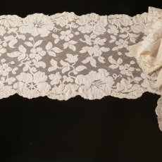 Antigüedades: EXQUISITO SHALL-MANTILLA ANTIGUO DE BLONDA DE SEDA. Lote 167812301