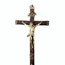 Antigüedades: CRUCIFIJO DE BRONCE - S. XVII. Lote 167833276