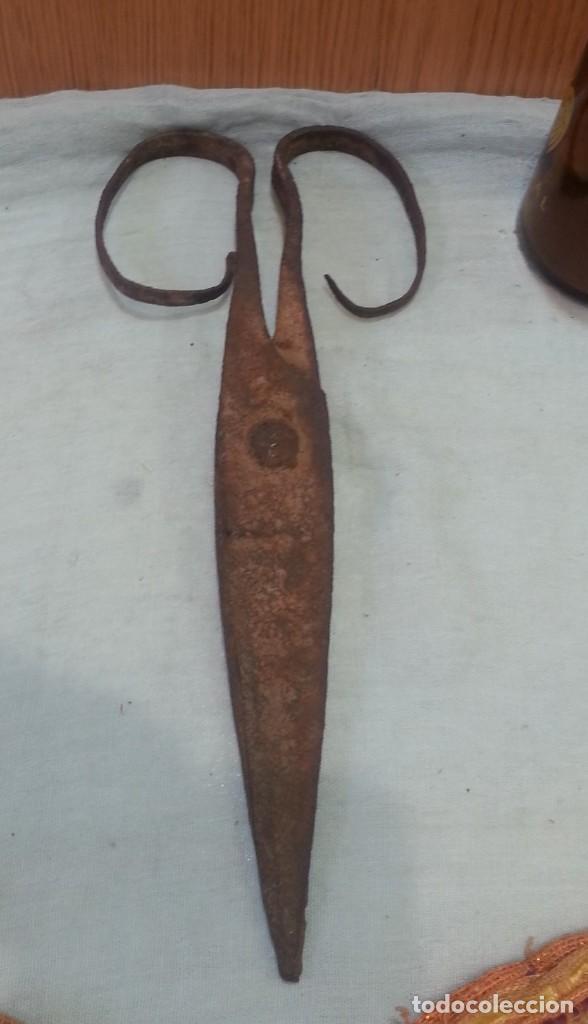 Antigüedades: Tijeras esquiladoras de ovejas. Vieja y rústica herramienta. - Foto 2 - 167839220