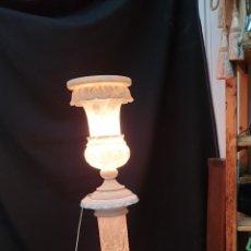 Antigüedades: LAMPARA DE MARMOL. Lote 167850377