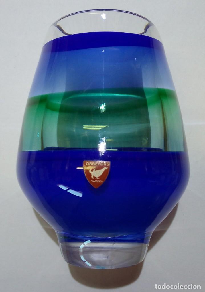 DISEÑO: NILS LANDBERG (1907–1991) FIRMADO EN BASE N 4130-220. DÉCADA 60´S. (Antigüedades - Cristal y Vidrio - Orrefors )