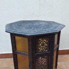 Antigüedades: MAGNIFICA MESA AUXILIAR PLEGABLE, SIGLO XIX. Lote 167916405