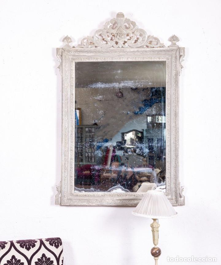 ESPEJO ANTIGUO RESTAURADO CLOVIS (Antigüedades - Muebles Antiguos - Espejos Antiguos)