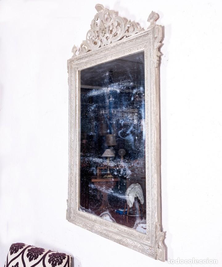 Antigüedades: Espejo Antiguo Restaurado Clovis - Foto 5 - 167934732