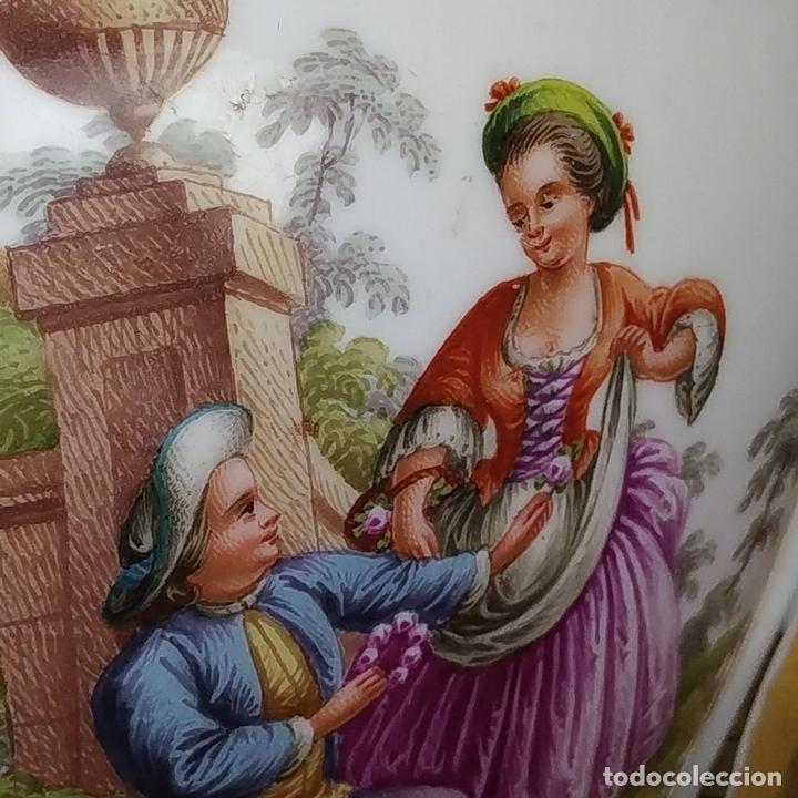 Antigüedades: PAREJA DE JARRONES ROCOCÓ. PORCELANA ESMALTADA. MEISSEN. CIRCA 1720(?). ALEMANIA - Foto 32 - 167949424