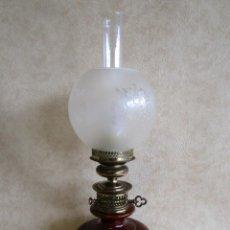 Antigüedades: LAMPARA ESTILO QUINQUE HECHA POR LAMPARAS AGUSTI 965. Lote 167950872