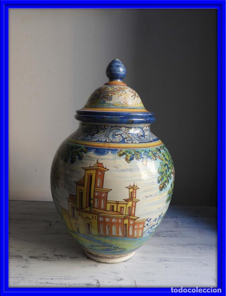TIBOR DE CERAMICA DE TALAVERA RUIZ DE LUNA (Antigüedades - Porcelanas y Cerámicas - Talavera)
