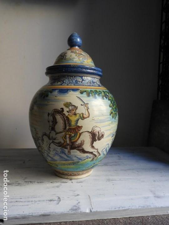 Antigüedades: TIBOR DE CERAMICA DE TALAVERA RUIZ DE LUNA - Foto 4 - 167954276