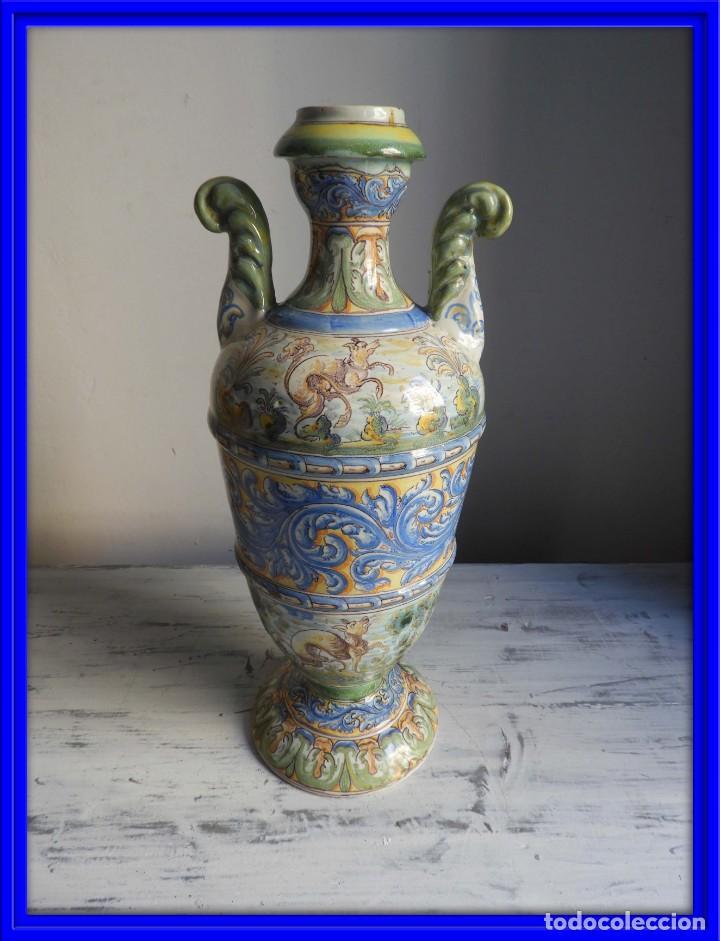 JARRON ANTIGUO DE CERAMICA DE TALAVERA NIVEIRO (Antigüedades - Porcelanas y Cerámicas - Talavera)
