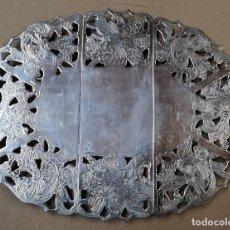 Antigüedades: SALVAMANTELES EXTENSIBLE BAÑADO EN PLATA MEDIDAS 25X19 CMS / EXTENDIDO 32X19 CMS.. Lote 167963748