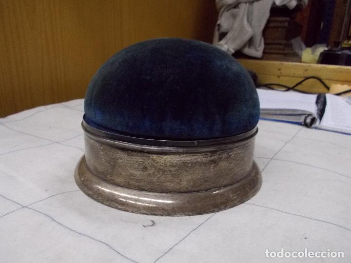Antigüedades: costurero o alfiletero en plata creo - Foto 7 - 167968232