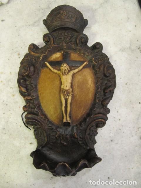 GRAN BENDITERA FIRMADA A. PEYRO (Antigüedades - Religiosas - Benditeras)