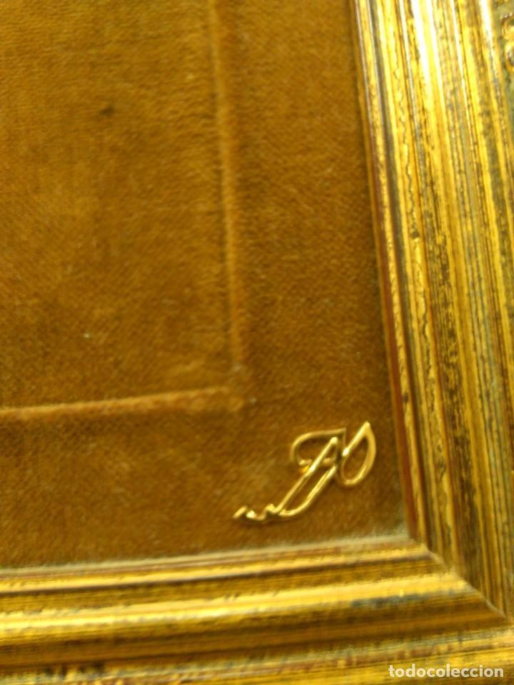 Antigüedades: Cruz de bronce con esmaltes -- TAMAÑO MARCO 28X24 - Foto 5 - 167974608