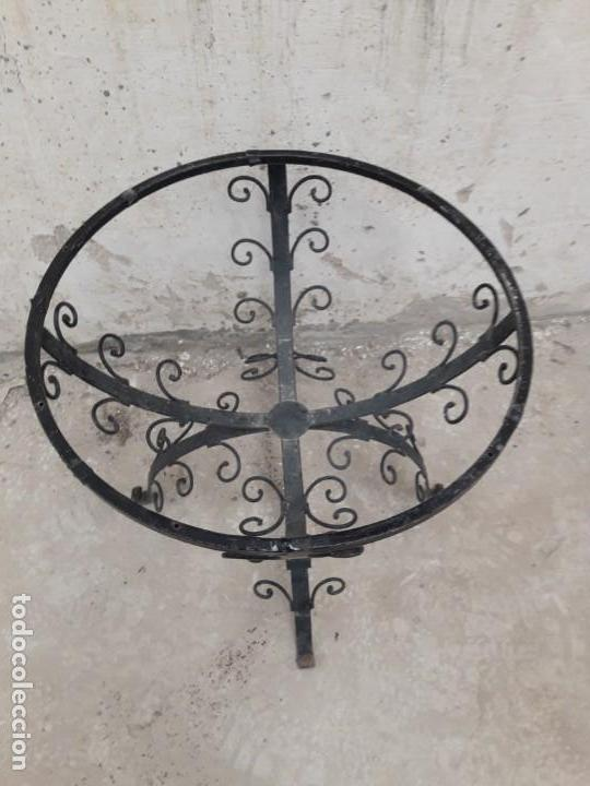 Antigüedades: MESA ANTIGUA HIERRO FORJA JARDIN VINTAGE - Foto 4 - 167999104