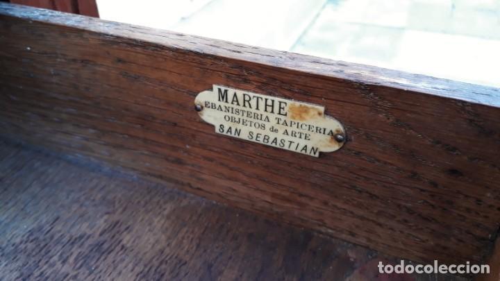 Antigüedades: Mueble sinfonier antiguo estilo modernista. Cómoda alta cajonera antigua vintage. - Foto 7 - 167999348