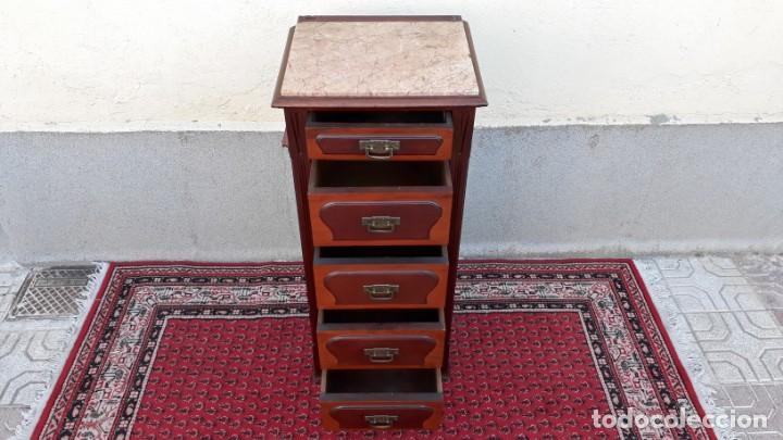 Antigüedades: Mueble sinfonier antiguo estilo modernista. Cómoda alta cajonera antigua vintage. - Foto 15 - 167999348