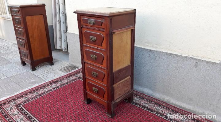 Antigüedades: Mueble sinfonier antiguo estilo modernista. Cómoda alta cajonera antigua vintage. - Foto 21 - 167999348