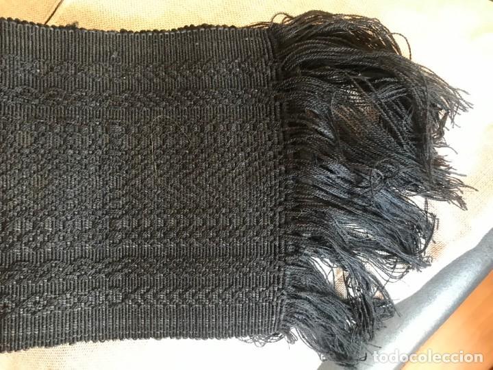 Antigüedades: faja de algodon labrado ancha para hombre, con relieve, gran tamaño - Foto 2 - 168002280