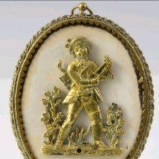 Antigüedades: RELIEVE ALEMÁN EN BRONCE Y MARFIL, S.XIX. Lote 168005690