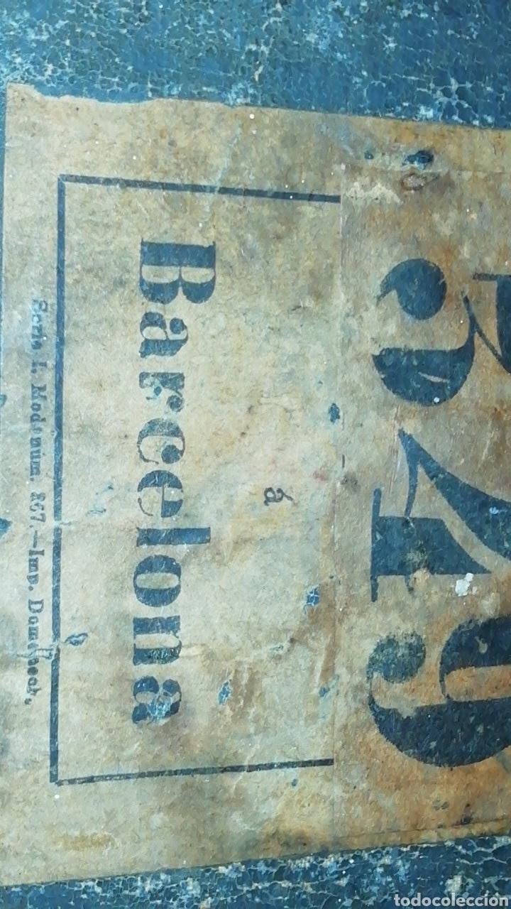 Antigüedades: Antiguo Baul de madera y tela - Siglo XIX - Foto 6 - 168008142