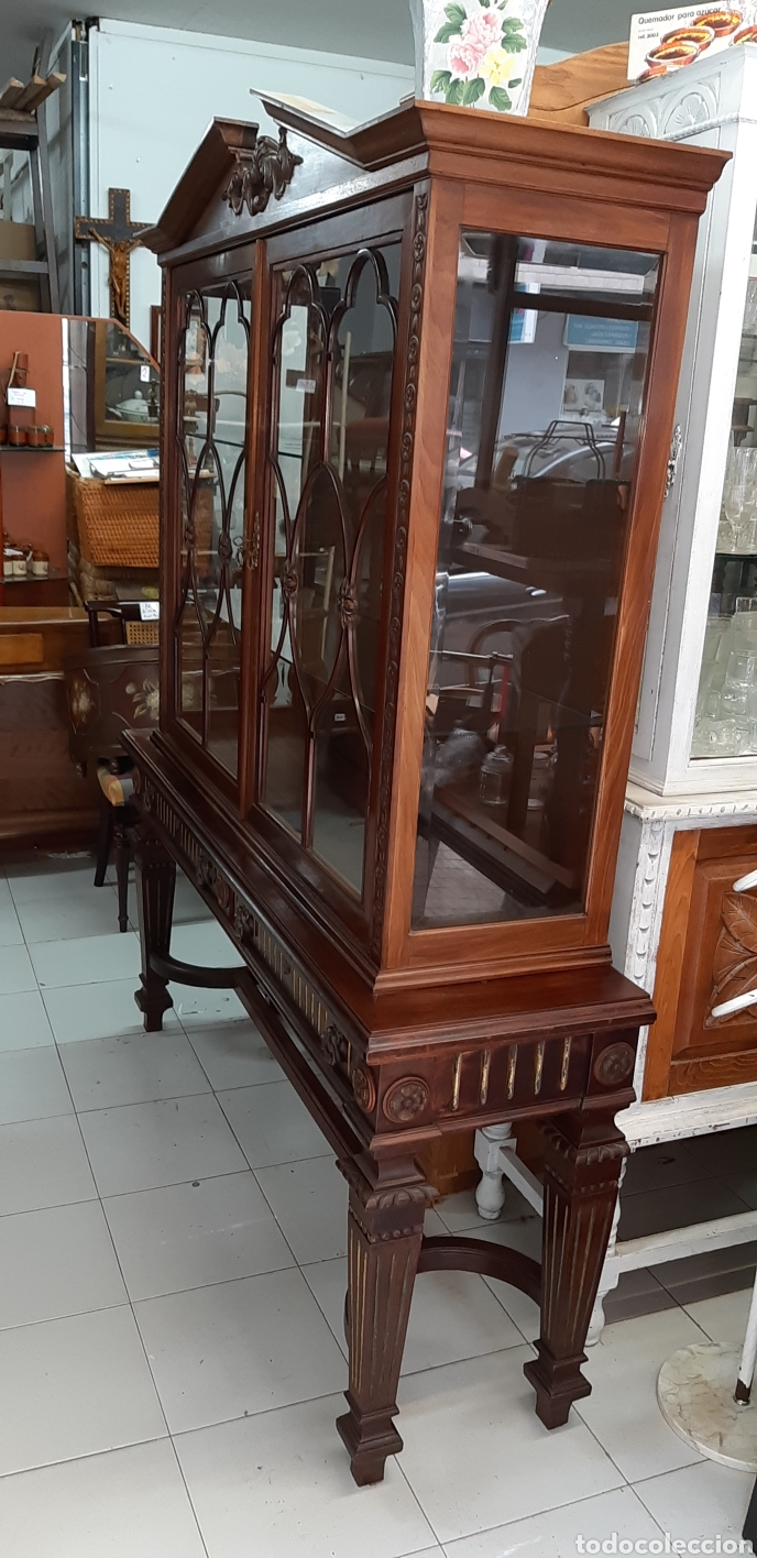 Antigüedades: VITRINA DE CAOBA - Foto 5 - 168032541