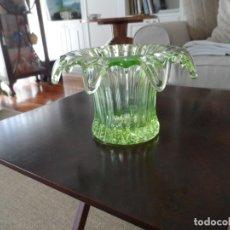 Antigüedades: JARRON URANIUM GLASS 1930'S. Lote 168051612
