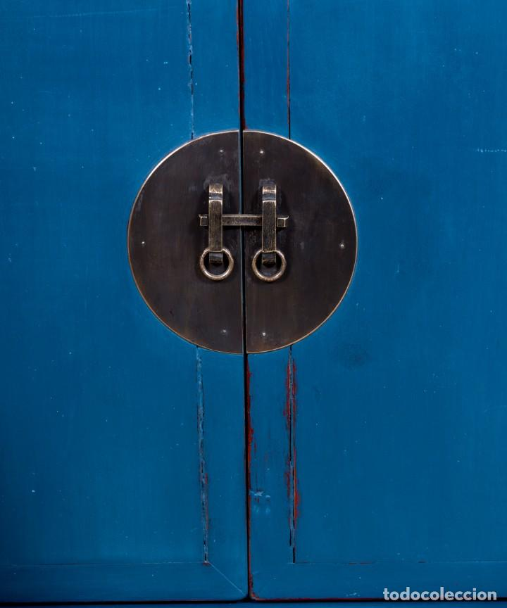 Antigüedades: Aparador Chino Antiguo Restaurado Harbin - Foto 4 - 168083148