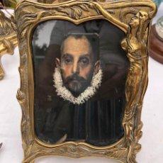 Antigüedades: PORTAFOTOS BRONCE MODERNISTA. Lote 168084828