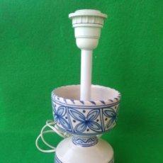 Antigüedades: LAMPARA DE CERAMICA DE TALAVERA SELLO EN BASE. Lote 168087140