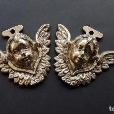 Antigüedades: ANGELITOS DE BRONCE. Lote 168098368