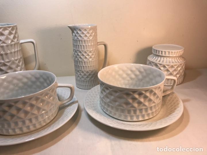 Antigüedades: Juego de Desayuno Tú y Yo de Porcelana- España- Castro Sargadelos. - Foto 2 - 168117140