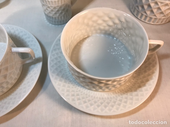 Antigüedades: Juego de Desayuno Tú y Yo de Porcelana- España- Castro Sargadelos. - Foto 5 - 168117140