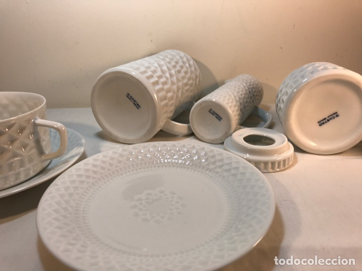 Antigüedades: Juego de Desayuno Tú y Yo de Porcelana- España- Castro Sargadelos. - Foto 11 - 168117140