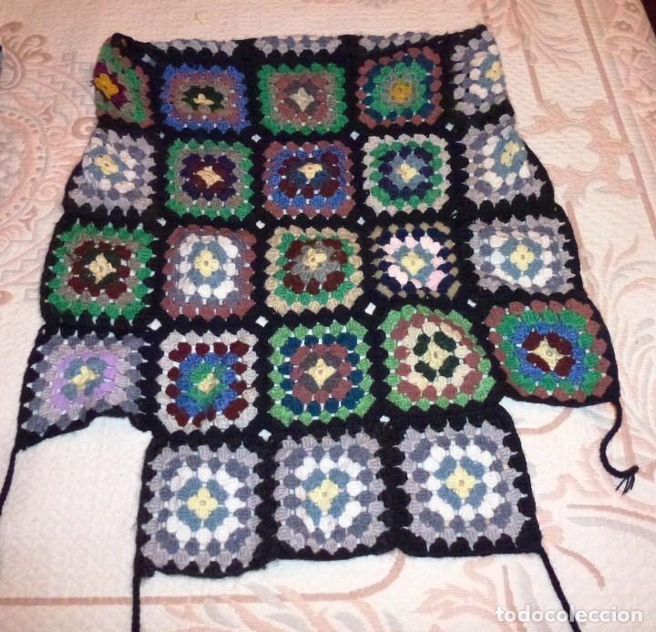 Antigüedades: 2 antiguos cubre sillon de lana realizada a mano - Crochet. - Foto 2 - 168121904