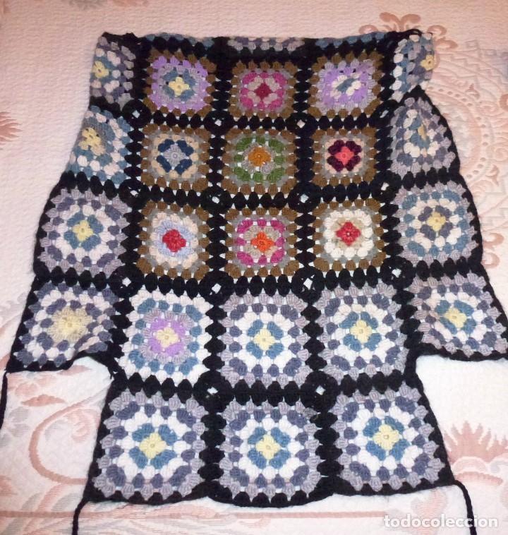 Antigüedades: 2 antiguos cubre sillon de lana realizada a mano - Crochet. - Foto 3 - 168121904