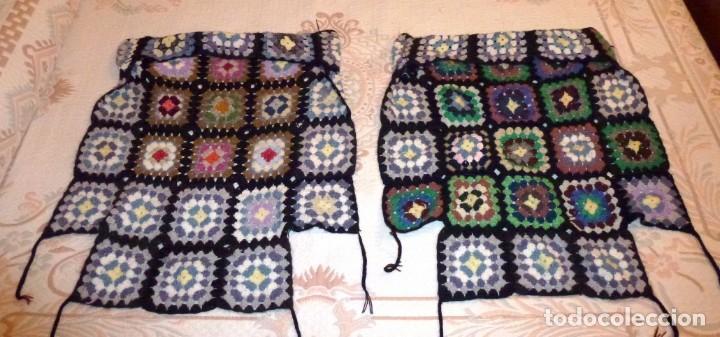Antigüedades: 2 antiguos cubre sillon de lana realizada a mano - Crochet. - Foto 4 - 168121904